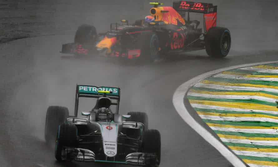Nico Rosberg and Max Verstappen