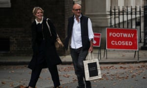 Dominic Cummings, special advisor for Britain's Prime Minister Boris Johnson, walks on Downing Street, in London, Britain, September 3, 2019.