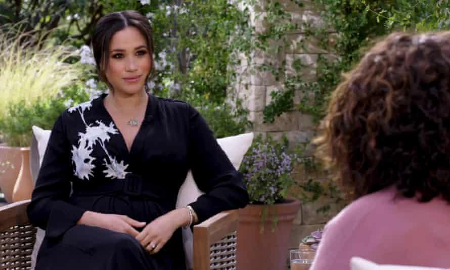 Oprah Winfrey interviews the Duchess of Sussex