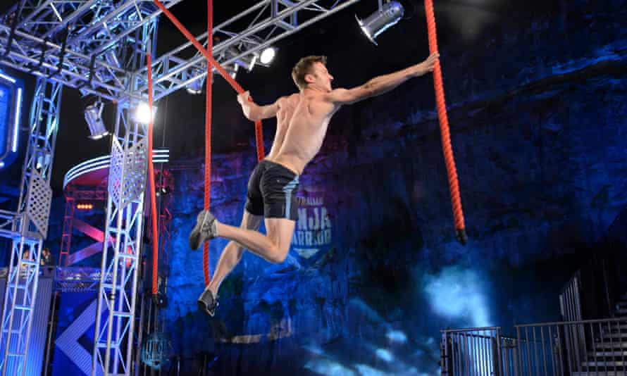 Lee Cossey in the finale of Australian Ninja Warrior, one of the many non-winners.