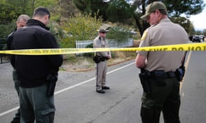 California gunman's wife found dead in house, say police – video
