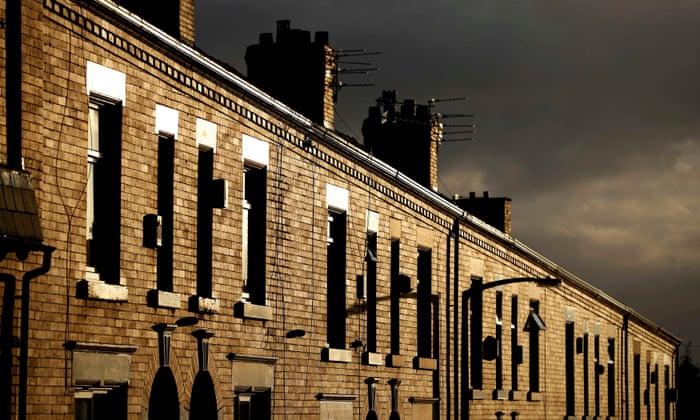 Terraced houses in Oldham.