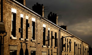 Terraced houses in Oldham.