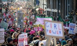 The Women's March in London on 21 Jan 2017