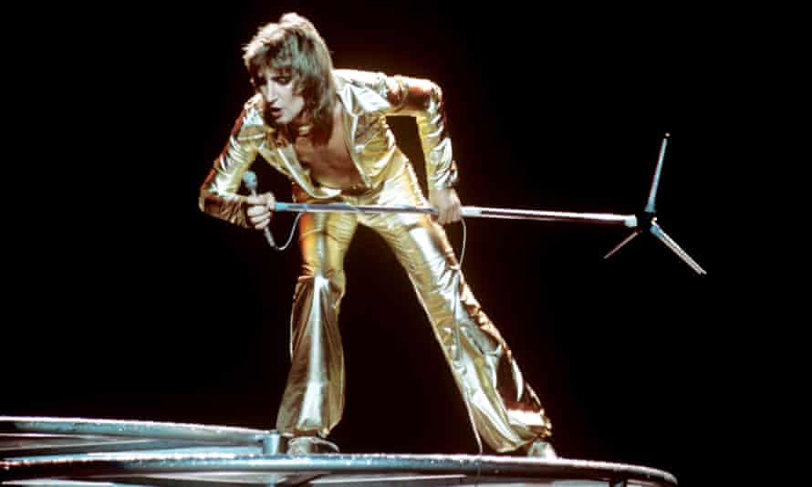 Glam slam: Rod Stewart in 1976, the year The Killing of Georgie was released.