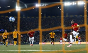 Manchester United's Paul Pogba scores their second goal from the penalty spot.