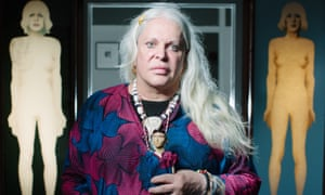 Genesis P Orridge in their 2014 exhibition at Summerhall, Edinburgh