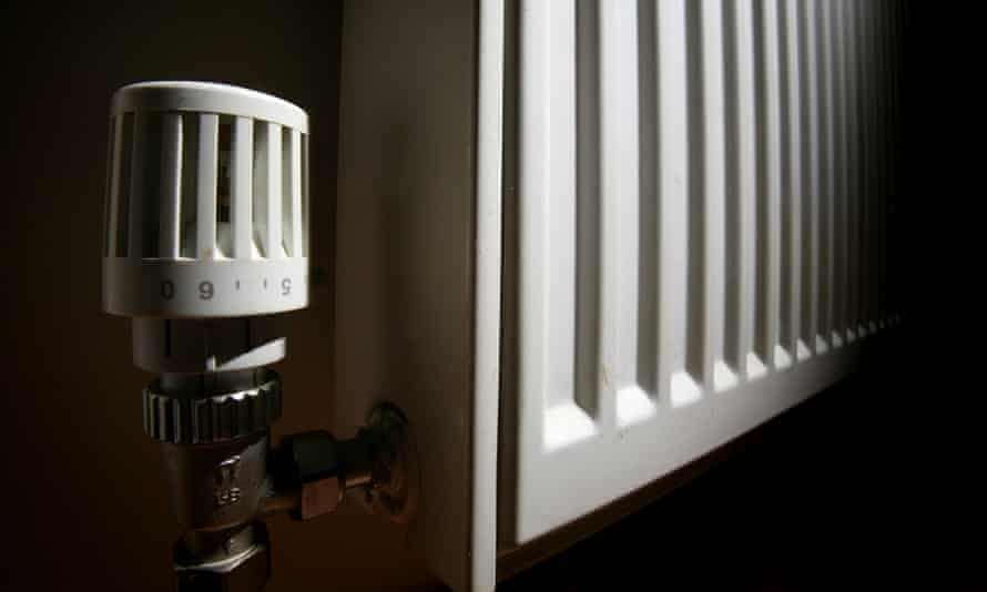 Central heating, a radiator in a house