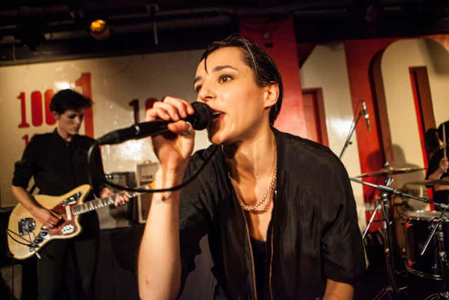 Savages play at the 100 Club in 2016.