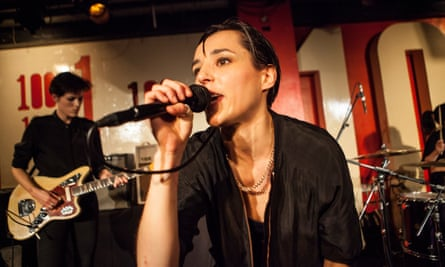 Savages playing the 100 Club in 2016.