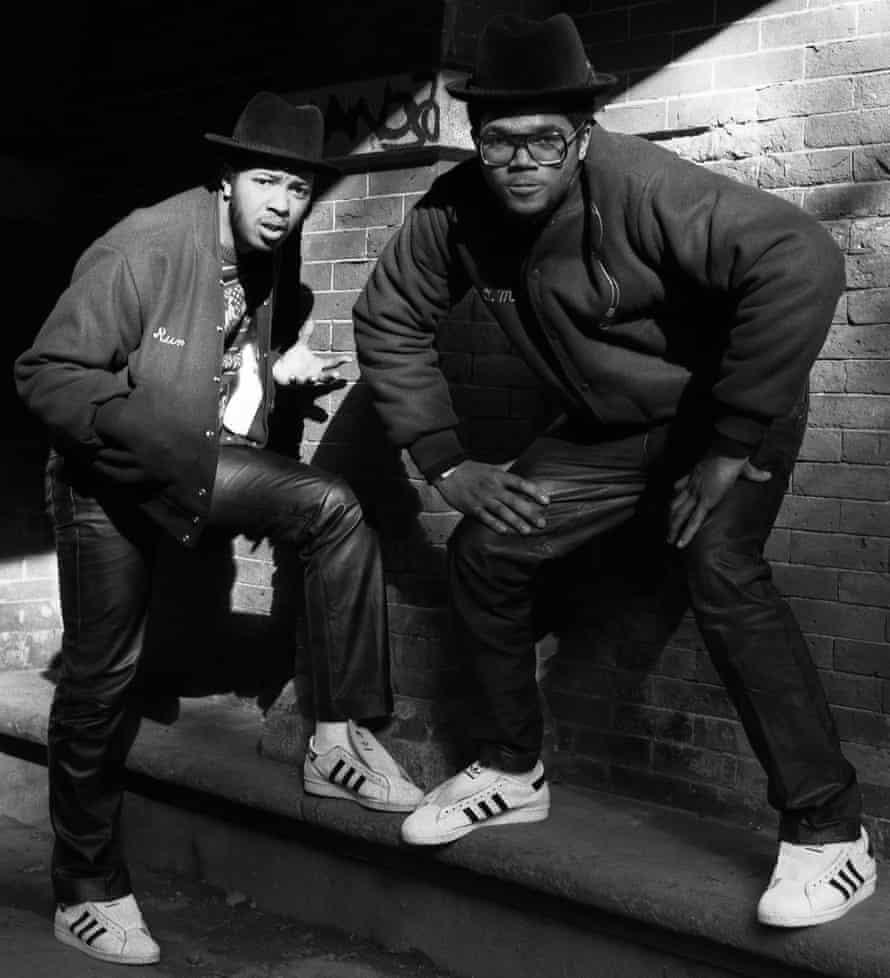 'Got 50 pair' … Joseph Simmons and Darryl McDaniels of Run DMC pose in Central Park, New York, in 1984.