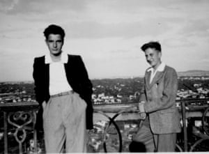A young Jacques Chirac in 1950 with John King, an English businessman