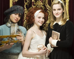 Left to right: Yasmin Paige as Petrova, Lucy Boynton as Posy and Emma Watson as Pauline in the 2007 television version of Ballet Shoes.