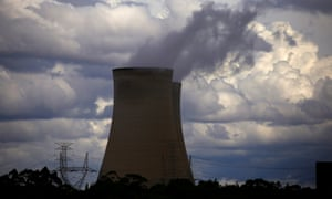The Bayswater coal-powered thermal power station near Muswellbrook in New South Wales. Australia's emissions have increased to the highest level in years.