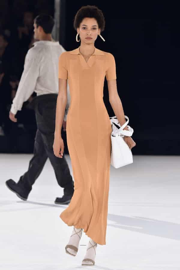 Jacquemus at Paris fashion week in January 2020.