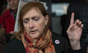 Emma Dent Coad leaves the public inquiry after the opening statements