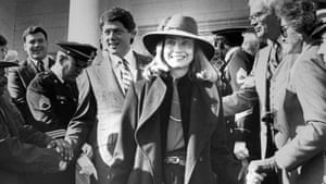 Firewall smile … Hillary with Bill in the early days.