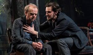 Toby Jones and Richard Armitage in Uncle Vanya at the Harold Pinter theatre, London.