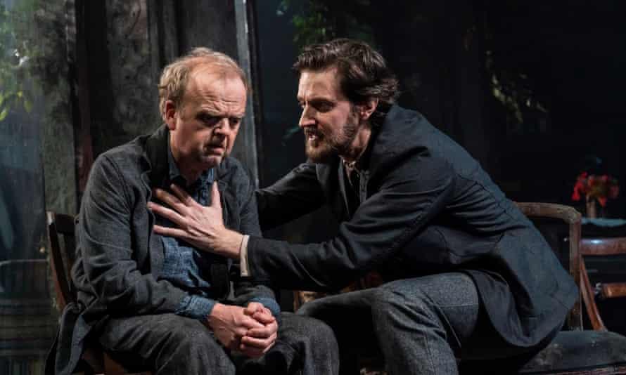 Toby Jones and Richard Armitage in Uncle Vanya in 2020.