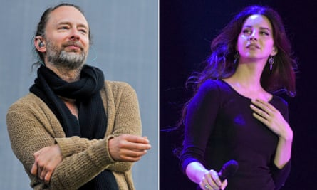 Thom Yorke of Radiohead and Lana Del Rey.