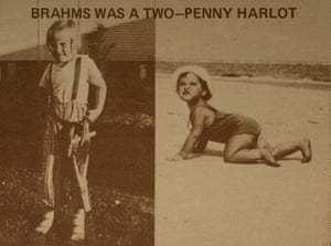 Pauline Oliveros and Alison Knowles' Brahms postcard from about 1976.