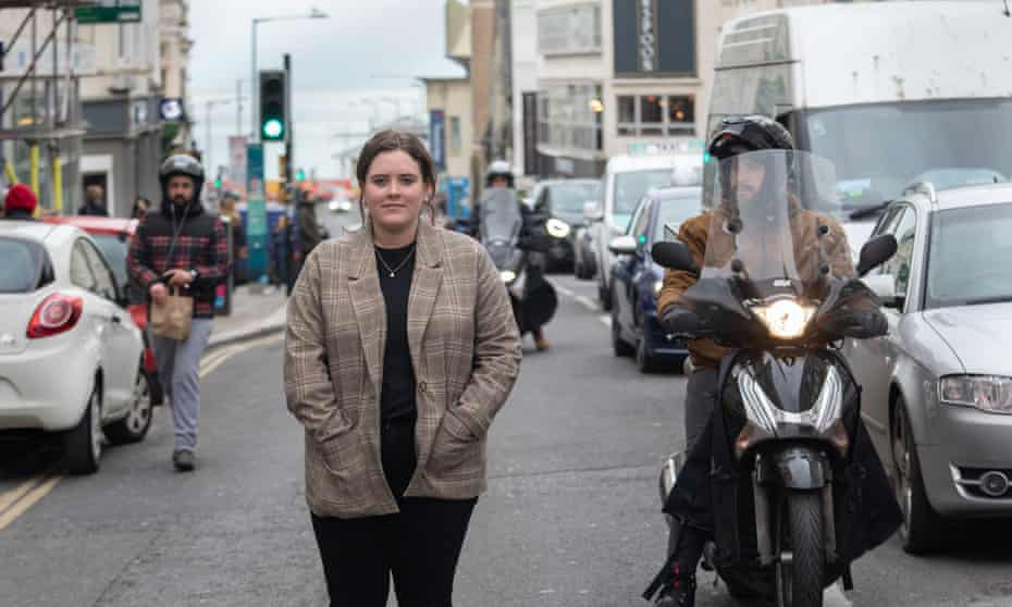 Brighton's Green party councillor Amy Heley wants the city centre to go car-free by 2023.