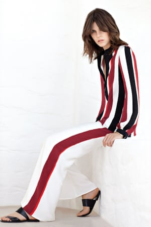 Zeus + Dione silk blouse, £470, trousers, £390, and sandals, £190, all at Matches Fashion and Net-a-Porter