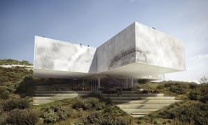 Michel Rojkind and Bjarke Ingels Group's proposed 'New Tamayo' cultural museum in Atizapan would have looked out over Mexico City from a steep hillside.