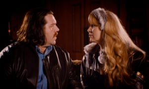 Nick Frost as John Self and Hattie Morahan as Martina in the BBC adaptation off Martin Amis's Money.