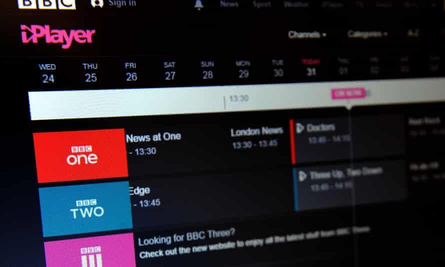 BBC iPlayer is seen on an laptop screen