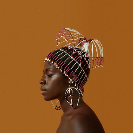 Sikolo Brathwaite in 1968 wears a headpiece designed by Carolee Prince.