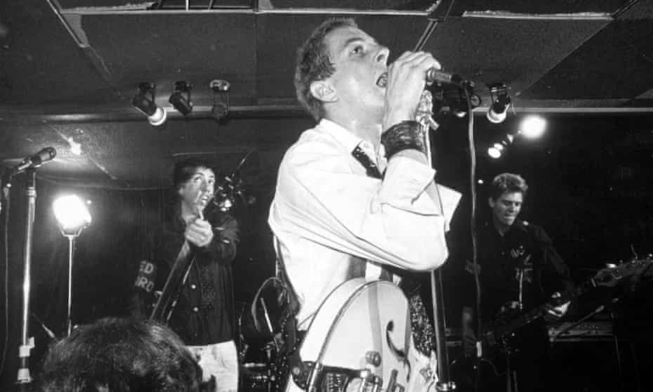 The Clash at the Roxy in 1977.