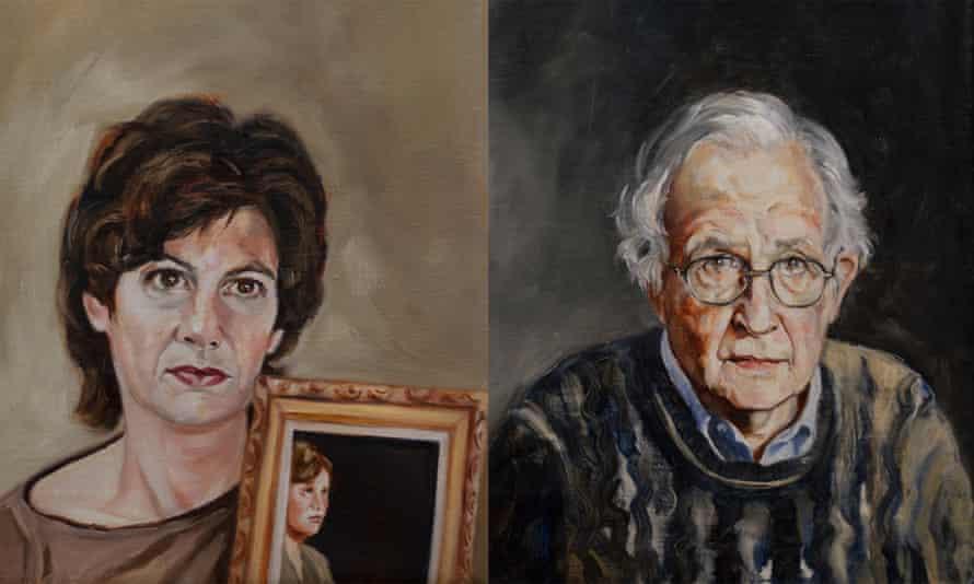 Candy Lightner and Noam Chomsky by Carole Freeman at Jim Kempner Fine Art.