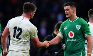 Ireland's Johnny Sexton (right) and England's Owen Farrell may be teammates when the British & Irish Lions tour South Africa next year.