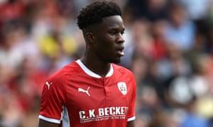Striker Ike Ugbo is at Barnsley on a season-long loan from Chelsea.