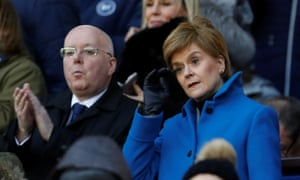 Nicola Sturgeon has expressed concern that matches returning behind closed doors would lead to increased gatherings of fans elsewhere.