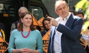 Liberal Democrat leadership contenders Jo Swinson and Ed Davey pictured in May 2019