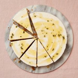 Yotam Ottolenghi's honey and yoghurt set cheesecake.