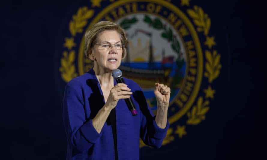 Elizabeth Warren in Concord, New Hampshire, on 2 January.