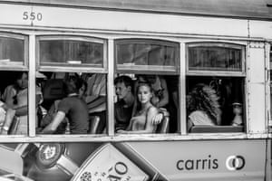 People on a tram, Lisbon, Portugal, by James AbellFinalist: People