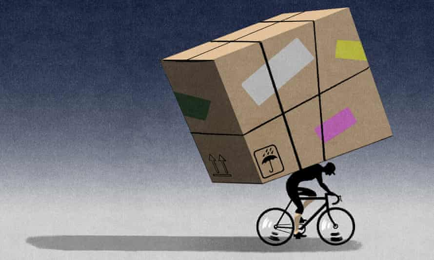 'If a courier gets sick or is involved in an accident, the company can just drop them.'