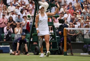 Ashleigh Barty celebrates match point.