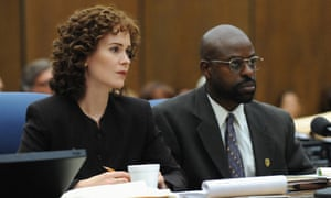 Brown with Sarah Paulson in The People v OJ Simpson.