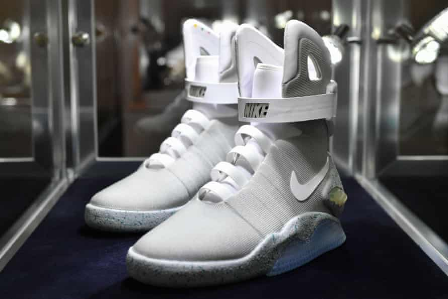 The Nike shoes inspired by Back to the Future Part II were sold with other trainers at auction in New York.