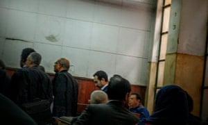 Ahmed Naji in court in Cairo, Egypt