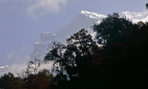 A view of the Annapurna massif from the River Mardi.