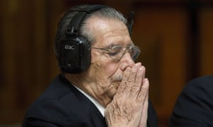 Ríos Montt on trial in 2013. His conviction and 80-year jail sentence were later overturned.