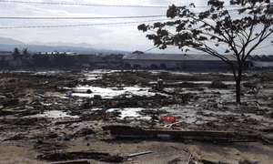 The tsunami that hit Sulawesi swept almost everything before it.