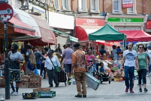 Electric Avenue in Brixton was packed with people shopping. A few face masks, but zero social distancing and generally it was like business as usual