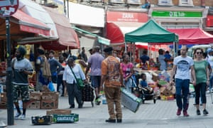 Electric Avenue in Brixton was packed with people shopping.